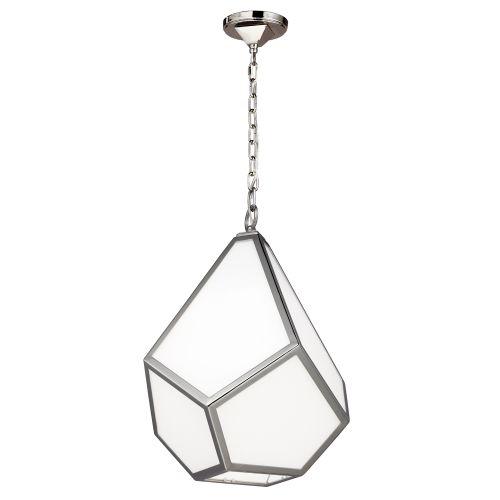 Feiss Diamond Polished Nickel Medium Pendant FE/DIAMOND/P/M