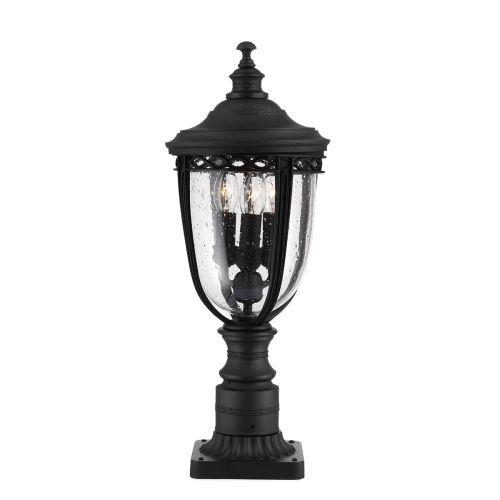 Feiss English Bridle Medium Pedestal Lantern In Black ELS/ FE/EB3/M BLK