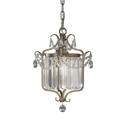 Feiss FE/GIANNA1C Gianna Duo-Mount Crystal Pendant Gilded Silver