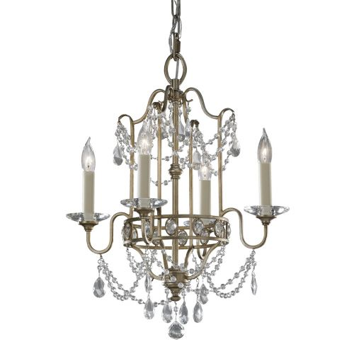 Feiss FE/GIANNA4 Duo Mount Silver Ceiling Light Crystal Decoration