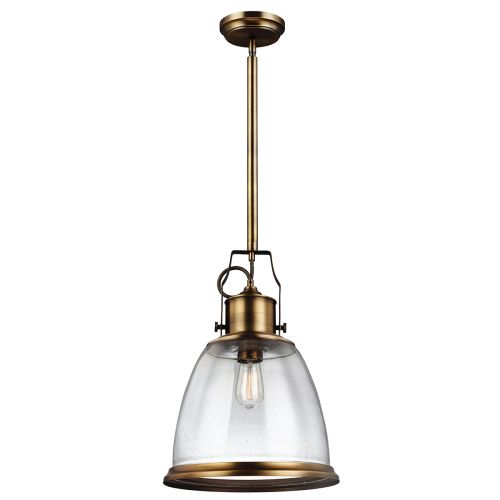 Feiss FE/HOBSON/P/L AB Hobson 1Lt Aged Brass Large Ceiling Pendant