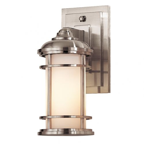 Feiss Lighthouse Small Outdoor Wall Lantern Brushed Steel ELS/FE/LIGHTHOUSE2/S