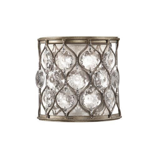 Feiss Lucia Wall Light Sunflower Crystals And Silver Frame FE/LUCIA1