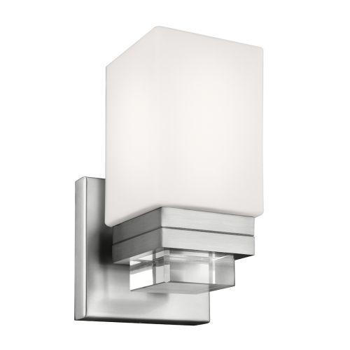 Feiss Maddison 1lt Bathroom Wall Light Satin Nickel ELS/FE/MADDISON1BATH
