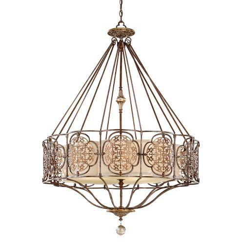 Feiss Marcella Ornate Bronze Gold 4 Light Pendant Fitting FE/MARCELLA4