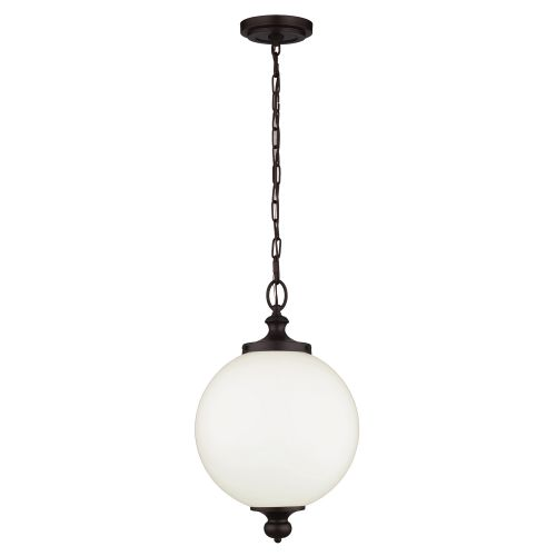 Feiss FE/PARKMAN/PL OB Parkman 1Lt Large Oil Rubbed Bronze Pendant Light