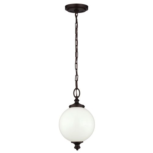 Feiss FE/PARKMAN/PS OB Parkman 1Lt Small Oil Rubbed Bronze Pendant Light