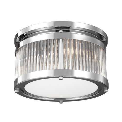 Feiss Paulson 3Lt Flush Mount Chrome FE/PAULSON/F/S