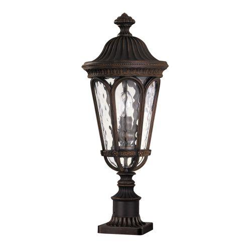Feiss Regent Court Outdoor Walnut Finish Pedestal Lamp FE/REGENTCT3