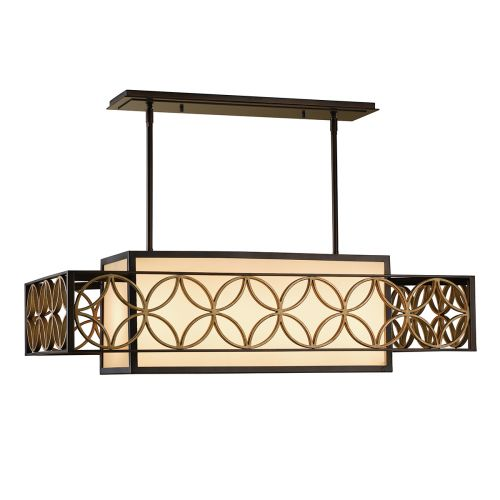 Feiss FE/REMY/P/A Remy 4Lt Heritage Bronze and Gold Ceiling Pendant