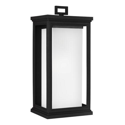 Feiss FE/ROSCOE/L Roscoe 1Lt Textured Black Lantern Wall Light