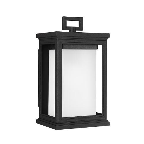 Feiss FE/ROSCOE/S Roscoe 1Lt Textured Black Lantern Wall Light