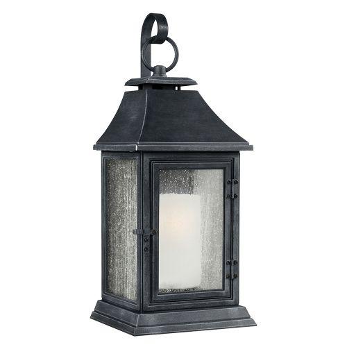 Feiss FE/SHEPHERD/2XL 1Lt Dark Weathered Zinc Extra Large Outdoor Wall Lantern