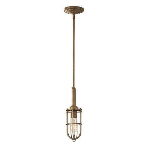 Feiss FE/URBANRWL/P/J Urban Renewal 1Lt Dark Antique Brass Ceiling Mini Pendant