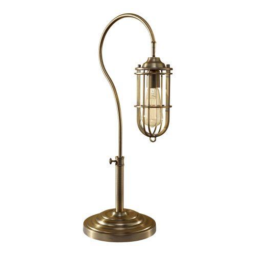 Feiss FE/URBANRWL/TL1 Urban Renewal 1Lt Dark Antique Brass Table Lamp