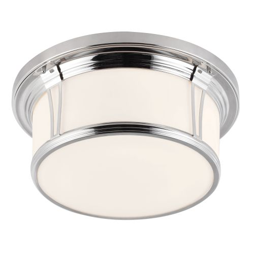 Feiss FE/WOODWARD/F/L Woodward 3Lt Polished Chrome Bathroom Ceiling Flush