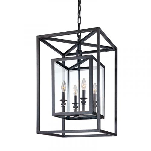 Troy Morgan Ceiling Lantern Pendant 4 x E14 Deep Bronze F9994DB-CE