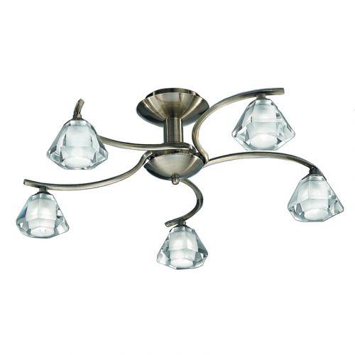 Franklite Twista 5Lt Semi-Flush Ceiling Light FL2163/5