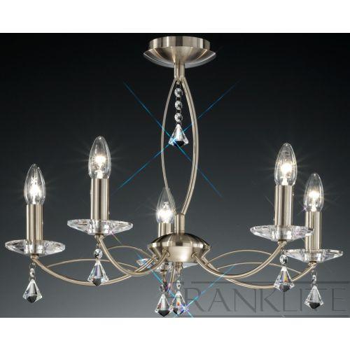 Franklite Monaco Bronze 5 Light Ceiling Fitting FL2228/5