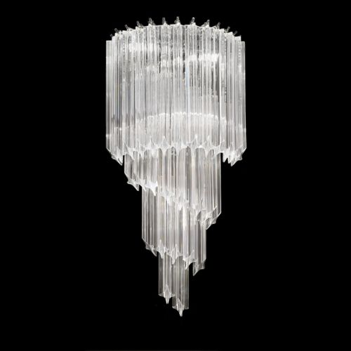 Franklite Valentina Chrome Wall Light Dressed With Crystals FL2266/3