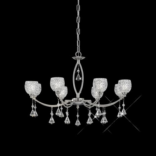 Franklite Sherrie Satin Nickel 8 Light Crystal Chandelier FL2292/8