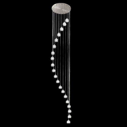 Franklite Tierney 20 Light Satin Chrome Spiral Pendant FL2300/20