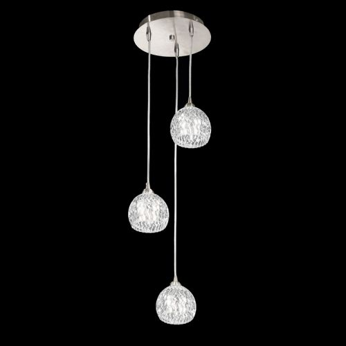 Franklite Tierney 3 Light Satin Nickel Spiral Pendant FL2300/3