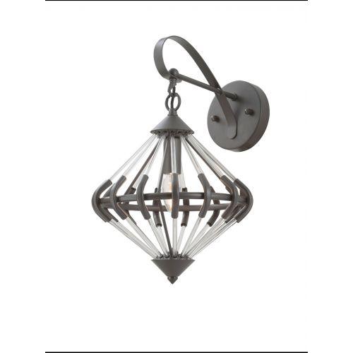 Franklite FL2362/1 Follie 1Lt Ironwork Glass Wall Light