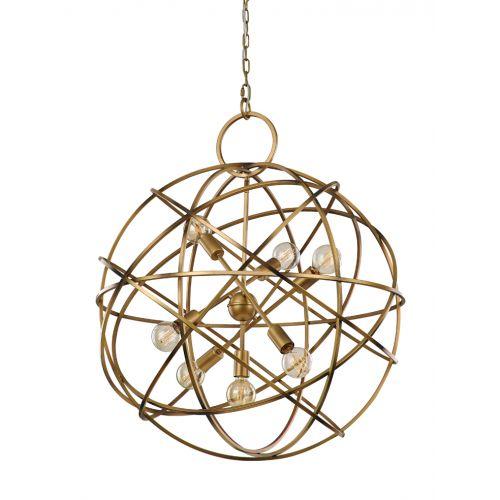 Franklite FL2366/7 Orbit Gold Ironwork 7Lt Pendant
