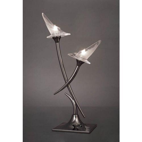 Mantra Flavia Table Lamp 2 Light Black Chrome M0310BC