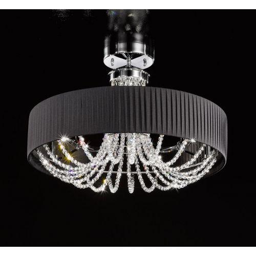 Kolarz Gioiosa Ground Crystal Ceiling Light FLO.1097/PL60.04.T-BL