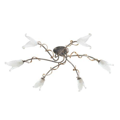Elstead Fly 6 Light Black/Silver and Gold Adjustable Chandelier