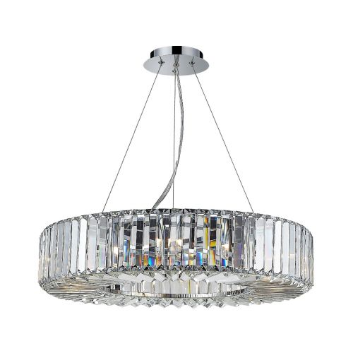 Marquis By Waterford Foyle IP44 Crystal Pendant Polished Chrome WF-25238-CHR