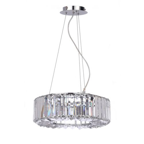 Marquis By Waterford Foyle IP44 Crystal Pendant Polished Chrome WF-31451-CHR