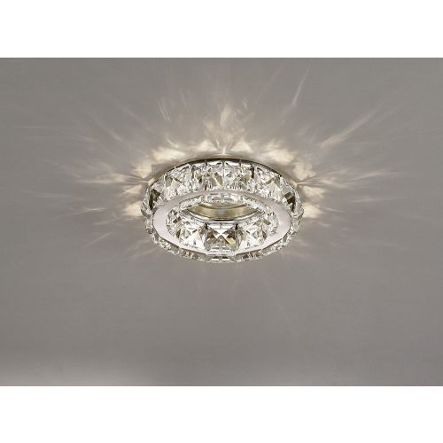 Diyas IL30836CH Galaxy GU10 Round Recessed Downlight Polished Chrome Crystal