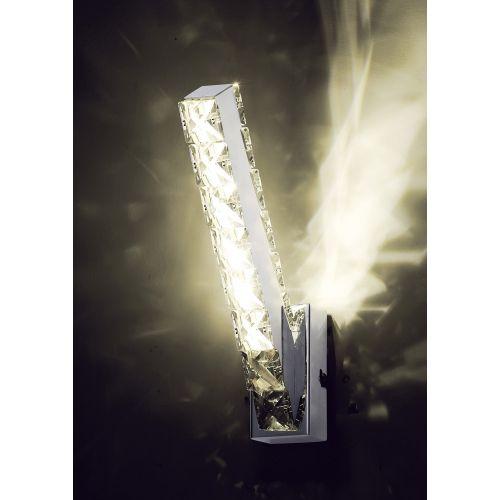 Diyas IL80031 Galaxy Vertical Wall Lamp 3W LED 4000K Polished Chrome Crystal
