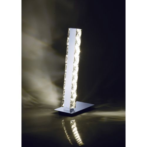 Diyas IL80040 Galaxy Table Lamp 3W LED 4000K Polished Chrome Crystal