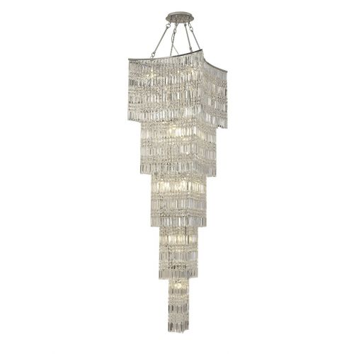 Diyas IL30645 Gianni Crystal Tall 15 Light Pendant Polished Chrome Frame