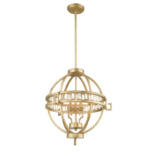 Gilded Nola Lemuria 3Lt Globe Pendant Distressed Gold GN/LEMURIA/3P A