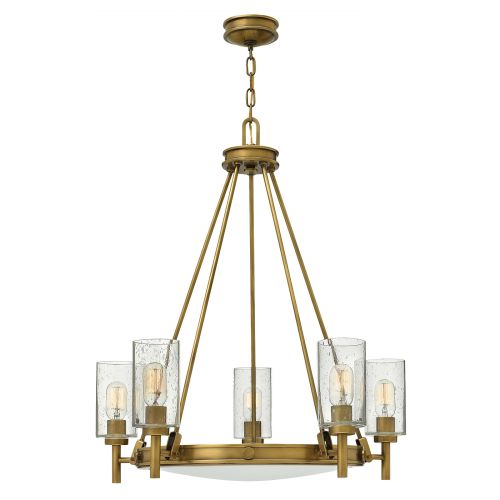 Hinkley Collier 5 Light Heritage Brass Chandelier HK/COLLIER5