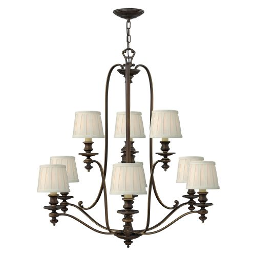 Hinkley HK/DUNHILL9 Dunhill 9Lt Royal Bronze Ceiling Chandelier