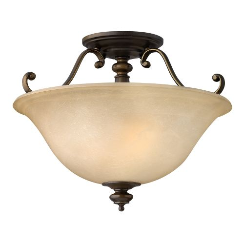 Hinkley HK/DUNHILL/SF Dunhill 2Lt Royal Bronze Ceiling Semi-Flush