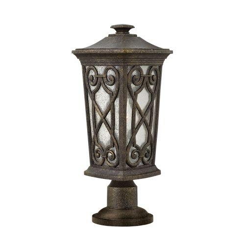 Hinkley HK/ENZO3/S Enzo 1Lt Autumn Outdoor Pedestal Lamp Die Cast Aluminium