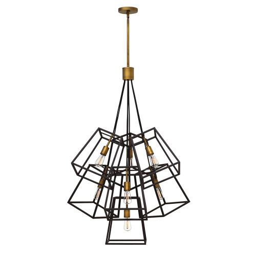 Hinkley HK/FULTON/7P Fulton 7Lt Bronze Multi-Arm Pendant Light