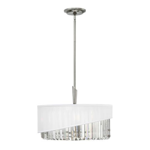 Hinkley HK/GIGI/3P Gigi 3Lt Polished Nickel Pendant Light