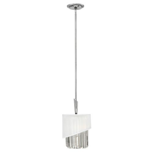 Hinkley HK/GIGI/MP Gigi 1Lt Polished Nickel Mini Pendant