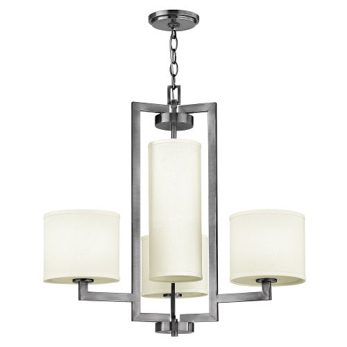 Hinkley Hampton 4lt Antique Nickel Chandelier HK/HAMPTON4