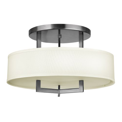 Hinkley Hampton Semi-Flush Ceiling Light Cream Shade HK/HAMPTON/SF