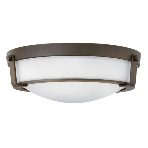 Hinkley HK/HATHAWAY/F/MB Hathaway 3Lt Old Bronze Flush Ceiling Light
