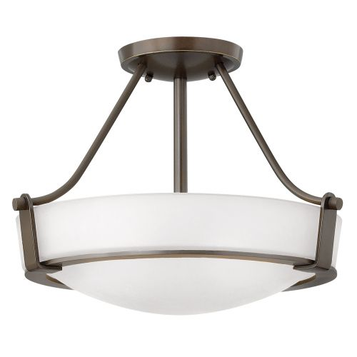 Hinkley HK/HATHAWAY/SFSB Hathaway 3Lt Old Bronze Semi-Flush Ceiling Light